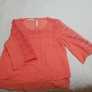 Coral two layered top